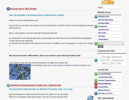 Crazyegg overlat van je webpagina met het aantal kliks