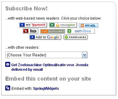 Kies de email optie om je RSS Feeds via Email te krijgen