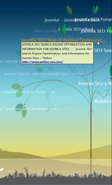 Tafiti Tree view overzicht van je zoekmachine resultaat