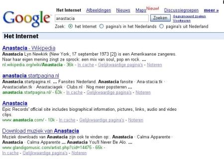 Google Nederland en de zoekresultaten