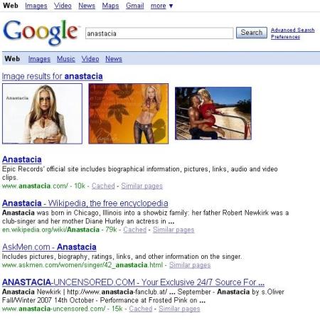 De amerikaanse Anastacie resultaten pagina