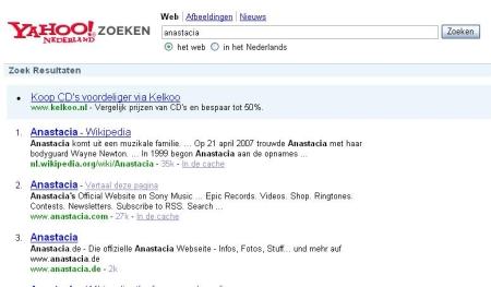 Yahoo Nederlands resultaten