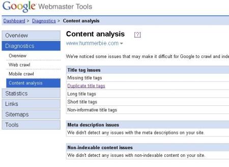 Website analyse voor zoekmachine optimalisatie door Google